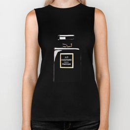 Black Parfum on black Biker Tank