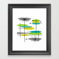 Mid-Century Modern Atomic Design Framed Art Print