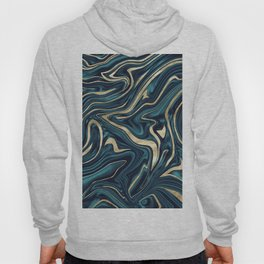 Teal Navy Blue Gold Marble #1 #decor #art #society6 Hoody