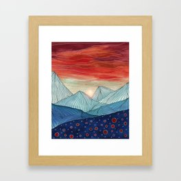 Lines in the mountains IV Framed Art Print