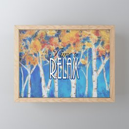 Time to Relax Framed Mini Art Print