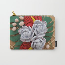Anthurium Rose Flowers Paper Quilling Carry-All Pouch