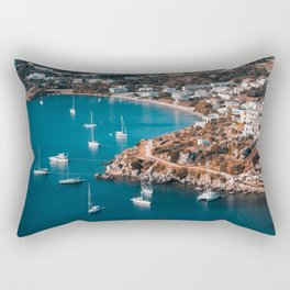 Sailing boats in the island of Leros Rectangular Pillow