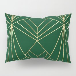 Art Deco in Gold & Green - Large Scale Pillow Sham