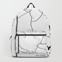 Gdynia Light City Map Backpack