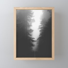 Foggy Road Framed Mini Art Print