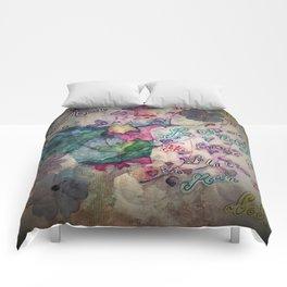Lilacs in the Rain Comforters