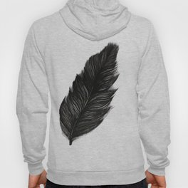 Psalm 91:4 Black Feather Hoody