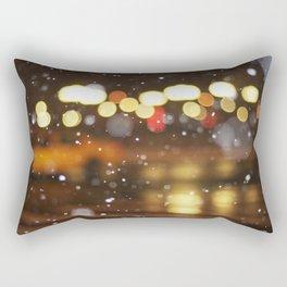 Snow Taxi Rectangular Pillow