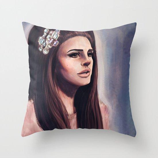 She Wore Blue Velvet Throw Pillow