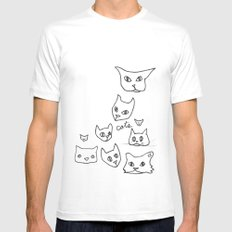 Cats Cat White Mens Fitted Tee MEDIUM