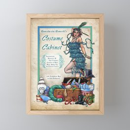 Costume Cabinet by Bobbie Berendson W Framed Mini Art Print