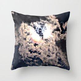 Solar Eclipse Butterfly Effect Throw Pillow