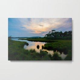 Sunset on the Marsh Metal Print