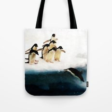 The Penguin Party - Painting Style Tote Bag