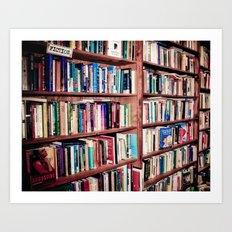 Library Shelves Art Print