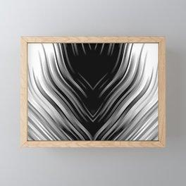 stripes wave pattern 3 bwii Framed Mini Art Print