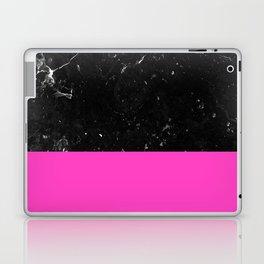 Pink Meets Black Marble #1 #decor #art #society6 Laptop & iPad Skin