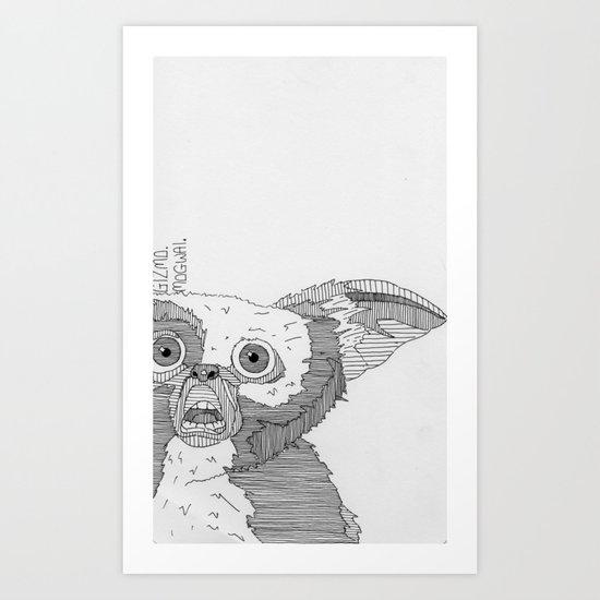Gizmo / Mogwai. Art Print