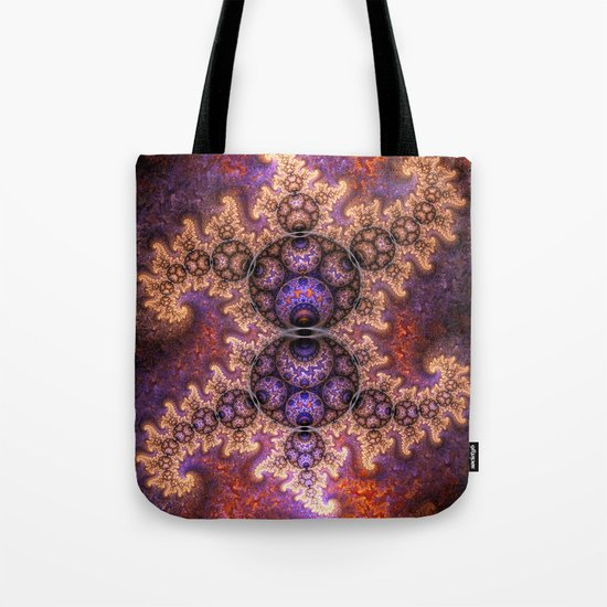 Fiery dragon spirals and orbs Tote Bag