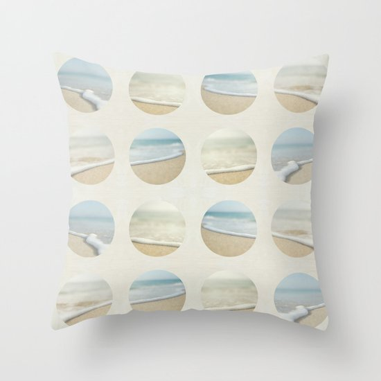 Beach Print Throw Pillow