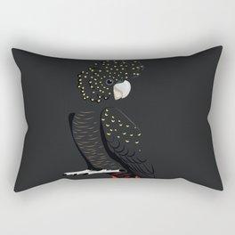 Red-tailed black cockatoo Rectangular Pillow