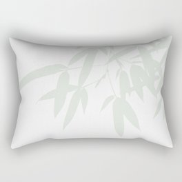 Leaves #Bamboo #Grey Rectangular Pillow