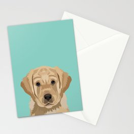 Labrador puppy pet portrait wall art and gifts for dog breed lovers Stationery Cards