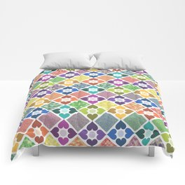 Colorful Floral Pattern III Comforters