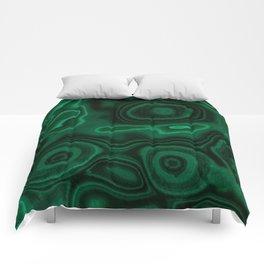 Earth treasures - patterns of malachite Comforters