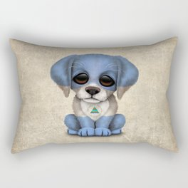 Cute Puppy Dog with flag of Nicaragua Rectangular Pillow