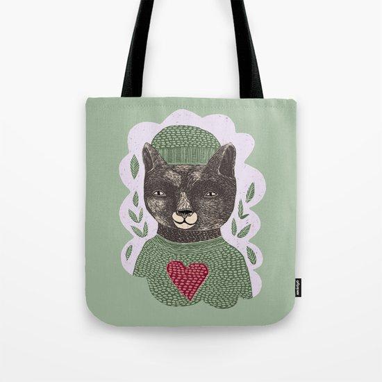 Bear Heart Tote Bag