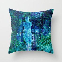 Blue Spirit Throw Pillow