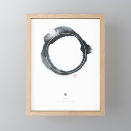 Circle n° 3 (Monochrome Version) Framed Mini Art Print