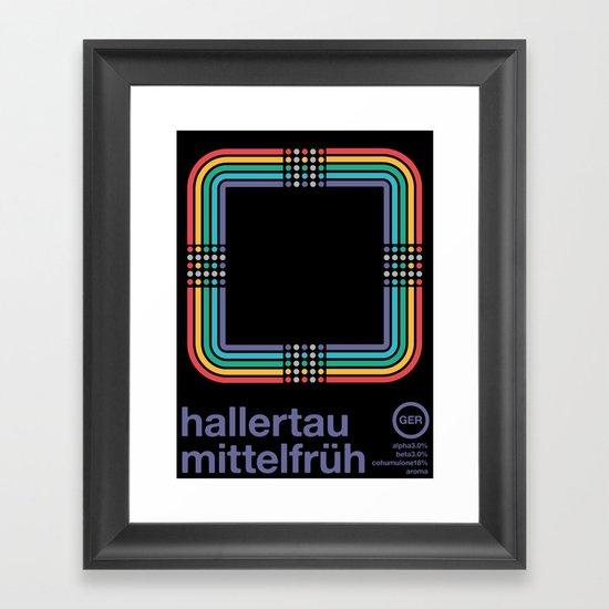 hallertau mittelfruh noble hop Framed Art Print