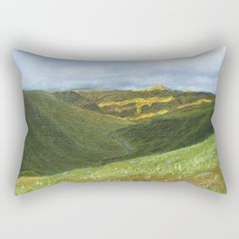 View from Ben Lawers over Loch Tay - Scotland / Oil Painting Rectangular Pillow