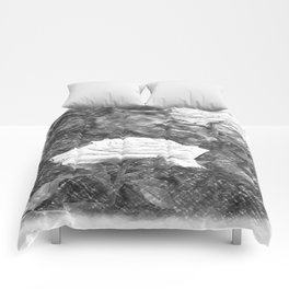 Pink Roses in Anzures 5 Charcoal Comforters