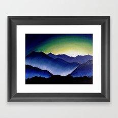 Mountain Landscape at Dusk Framed Art Print