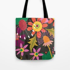 Jungle Flowers Tote Bag
