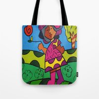 meme Tote Bags featuring Meme I by ChanelChristoffDavis