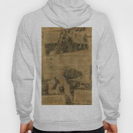 Map Of Oyster Bay 1778 Hoody