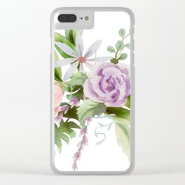 Dainty Spring Wildflower Floral Clear iPhone Case