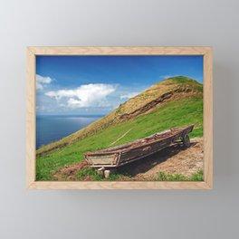 Farm scene Framed Mini Art Print