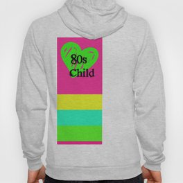 80s Child Pink and Green Fluorescence Hoody