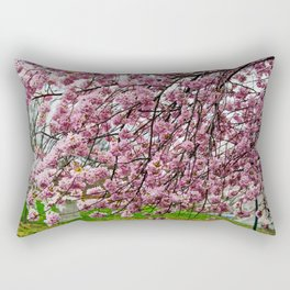 Happiness - Spring Blossoms Rectangular Pillow