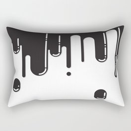 Melting black stuff Rectangular Pillow
