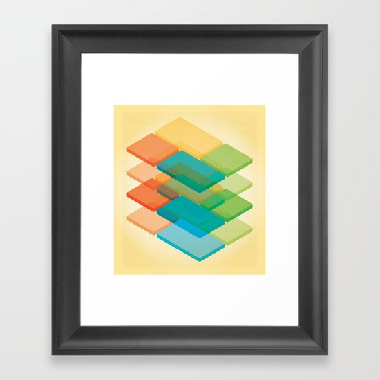 Color Cubes 2 Framed Art Print
