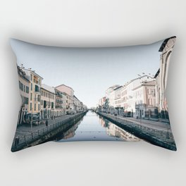 Navigli in Milan Rectangular Pillow