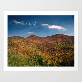 Autumn on the Mountains of the Parkway Art Print