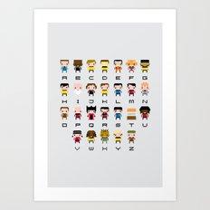 Pixel Star Trek Alphabet Art Print